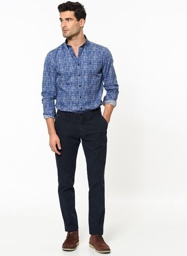 Beymen Business Desenli Slim Fit Gömlek Mavi